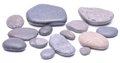 Group of stones isolated on white background Royalty Free Stock Photo