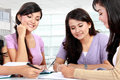 Group of student studying together Royalty Free Stock Photos