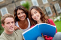Group of students outdoors Royalty Free Stock Photography
