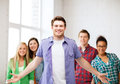 Group of students at school education concept Royalty Free Stock Photos