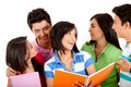 Group of students talking Royalty Free Stock Photo