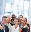 Group of successful business colleagues, laughing Royalty Free Stock Image