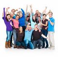 Group of successful casual people standing Stock Photo