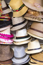 Group of tango hats, Buenos Aires Royalty Free Stock Photo