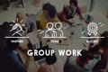 stock image of  Group Team Work Organization Concept
