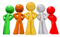 Group of Team Workers Various Colors Royalty Free Stock Image