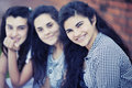 Group of teen friends Royalty Free Stock Photo