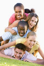Group Of Teenagers Having Fun Outdoors Royalty Free Stock Photo
