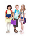 Group of three school children Stock Photo