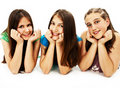 Group Of Three Young Girls Royalty Free Stock Photo