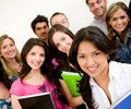 Group of university students Stock Image