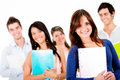 Group of university students Royalty Free Stock Image