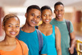 Group university students of african close up Stock Image