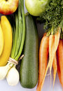 Group of vegetables and fruit on white background Royalty Free Stock Photography