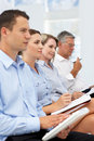 Group watching business presentation Royalty Free Stock Image