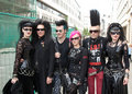 Group at Wave Gotik Treffen WGT Royalty Free Stock Photo