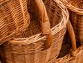 Group of wickery baskets Royalty Free Stock Photo