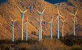 A Group Of Wind Turbines In Th...