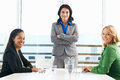 Group of women meeting in office business having smiling to camera Stock Photo
