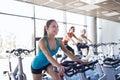 Group Of Women Riding On Exerc...