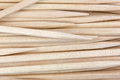 Group wooden toothpicks up close a view of a of thin tooth picks used to remove food particles from between teeth Stock Photography