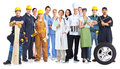 Group of workers people. Royalty Free Stock Photo