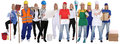 Group of workers professions women professionals standing occupa Royalty Free Stock Photo