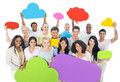 Group of world people sharing ideas Royalty Free Stock Photos