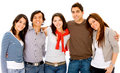Group of young adults Royalty Free Stock Photo