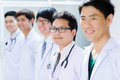 Group of young asian doctor portrait Royalty Free Stock Photos