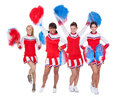 Group of young cheerleaders Royalty Free Stock Images