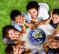 Group of young ecologists Royalty Free Stock Image