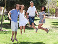 Group of young friends having fun Royalty Free Stock Photography