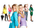 Group of young girls Stock Image