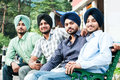 Group of young indian man sikh Royalty Free Stock Photos