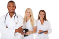 Group of young medical professionals
