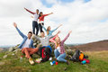 Group Of Young People Hiking I...