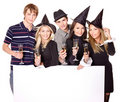 Group young people on party. Stock Photography