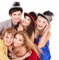 Group young people on party. Royalty Free Stock Images