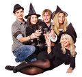 Group young people on party. Stock Images