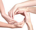 Group of young people's hands Stock Image