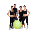 Group of young people with sport clothes isolated on a white background Royalty Free Stock Images