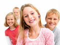 Group of young scool children Royalty Free Stock Images