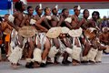 Group of Zulu dancers Royalty Free Stock Photo