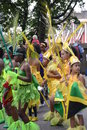 Groupe de gosses dansant au carnaval de Notting Hill Photos stock