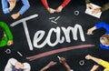 Groupe de personnes multi ethnique et team concepts Images libres de droits