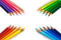 Grouped Color Pencils Stock Images