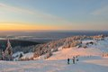 Grouse mountain ski resort sunrise north vancouver bc Royalty Free Stock Image