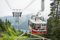 The grouse mountain skyride in vancouver british columbia canada on august departs at base of Stock Photos