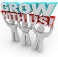 Grow With Us - Join a Group for Personal Growth Stock Image